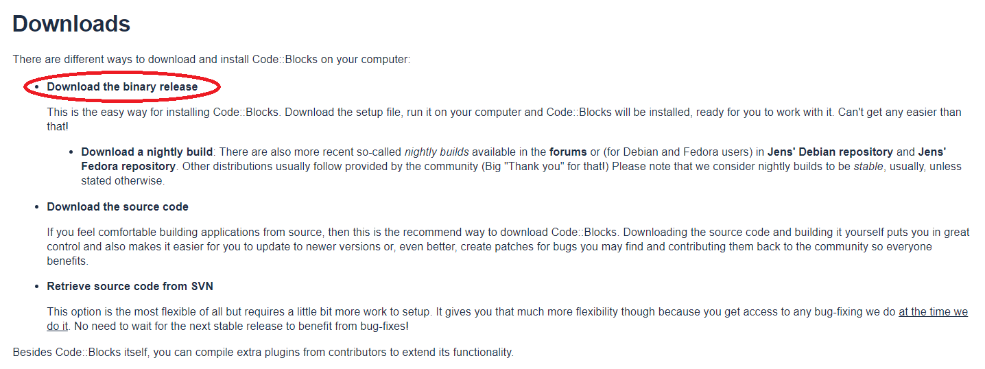 How to install Code::Blocks - Computer Science - Neso